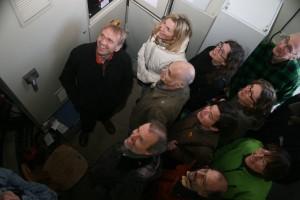 Die Fraktion besichtigt ein Windrad in Bad Endbach